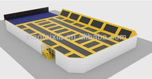 large trampolines with foam pit
