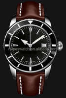 2015 luxury quartz watches with leather strap quartz wrist watch different colour for select