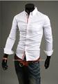 Nouvelle arrivée 2015 hommes automne coréenne Fashion Slim Tops hommes formelle robe à manches longues chemises fabricants en chine m - xxxl