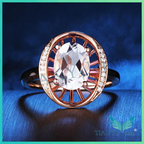 New Style 18 K Anel de Dedo de Ouro 1 Carat Oval Cut Moissanite Anel de Casamento Do Diamante