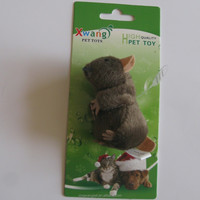 9 cm cheap squeaky cat toy mouse with catnip