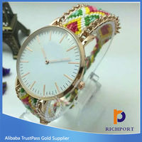 Wholesale geneva watches china supplier knitted nylon watch ladies fashion watches latest