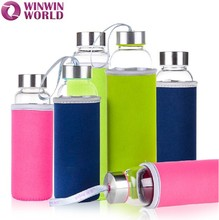 Personalized Transparent Heat Resistant China Glass Bottle 500ml