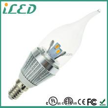 UL ETL Listed 120 Volt Led Bulbs Candle Light Led 6 Watt E12 Candelabra E12 Led Omnidirectional Light Bulb