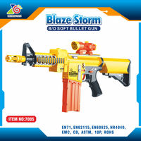 promotional gift air soft sniper rifle toy gun with nerf bullets/abs plastic top quality safe toy gun for sale