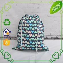 2015 Promotional wholesale cheap BOPP cotton drawstring bag