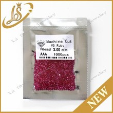 factory price round 2.00mm #5 ruby