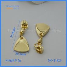 zinc alloy zipper puller for purse free samples hight quanlity accessories for handbag wholesale