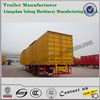 CNHTC huaren van type semi trailer of 3 axle and 12 tires 60 ton hot sale ISO9001 auto parts