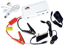 Asia jump starter factory 12000mah car care products with 12v rechargeable battery also for laptop and camera