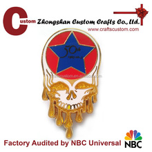 Factory wholesale skull dead head enamel metal lapel pin badge , metal custom badge