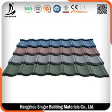 decorative metal roof tile/red color metal roof tile