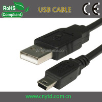 Good quality mini usb cable for mp3 player usb data cable with data and charging sync