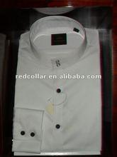 band collar long sleeve french cuff 100% cotton men`s shirts