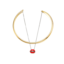 Wholesale red lips pendant necklace