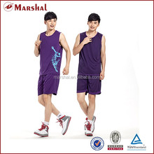 Double face basketball jersey,new design reversible basketball uniform