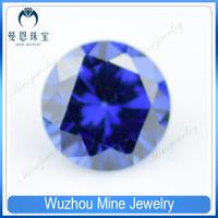 wuzhou loose stone round shape tanzanite CZ gems