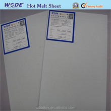 Shoes Toe Puff And Counter Hot Melt Sheet Nonwoven Glue Bonded Fabric