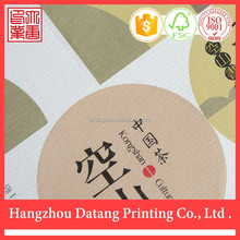 Special Self Adhesive Label for tea , Customized is Welcomed