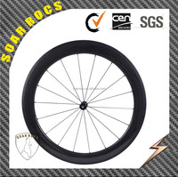 SoarRocs ruote carbonio bicycle wheel light wheel front 18h rear 21h carbon R36 60mm clincher wheelset
