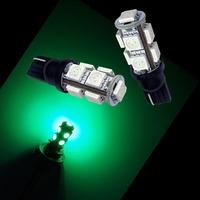 12V T10 194 9SMD 5050 LED Car Auto Turn Light /Side Marker LED Bulbs GREEN