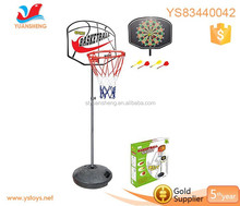 Kids exervise playgroud dart board with stand with basketball backboard
