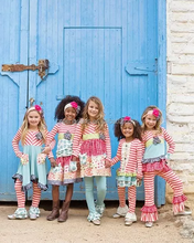 High quality girls printed floral set latest summer design toddler girl boutique clothes cotton lovely wholesale kid clothes