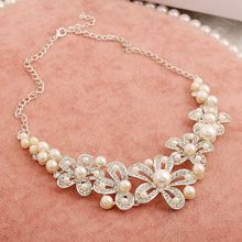 high-end wedding accessories pearl rhinestone tiara A888 family of four wholesale fashion sets of chain necklace sets