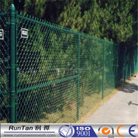 For Security chain link fence galvanized pvc coated chain link fence