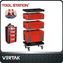 Vertak plastic tool box set,global patented truck tool box,mechanic tool box set