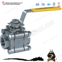 Forged steel three pieces float ball valve