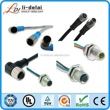 M12 3 poles male to female waterproof connector