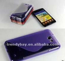 High qualityt TPU case for samsung galaxy S Line Design Tpu Case For Samsung Galaxy Note I9220 N7000