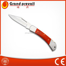 Wood Handle Stainless Steel Folding Hunting Knife