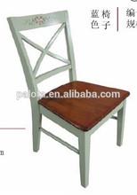 troditional de madera silla de comedor habitación en estilo vintage cross volver lado de comedor silla de fábrica