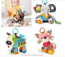 Cat dog elephant monkey baby calm doll animal figurines Baby toys