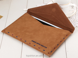100% handmade pu leather skin case for apple ipad mini 1 2 3, for ipad 3 leather sleeve bag