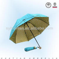 promotion cheap protect uv print inside 2fold umbrella