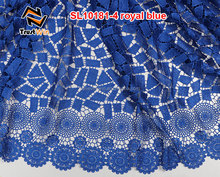 hot nigeria guipure lace wedding dress in royal blue sl10181