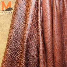 garment leather sheep skin embossed genuine leather crocodile pattern