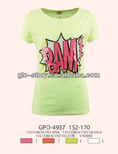 Glo-story dry fit print star cartoon tshirts wholesale