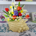 Eco- friendly vasos de cerâmica com desenho de búzio