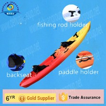 two person plastic kayak with paddle holder