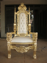 King throne chair gold