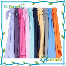 Solid color 100% cotton aden anais muslin swaddle blanket wholesale in china