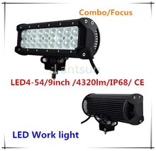 top quality 54w led light bars,for off road use,military,agriculture,marine,mining