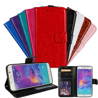 leather case with belt clip folio for samsung note 5 flip, crazy horse leather case for samsung note 5 cover