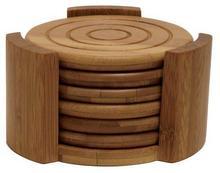 colección de bambú 7- pieza montaña conjunto, natural estera de la taza