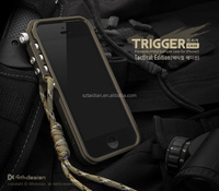 for iphone 5 5s 5C trigger metal bumper for iphone5 5s M2 4th design premium aluminum bumper case tactical edition free shipping