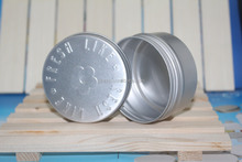 250gr empty aluminum can with screw on lid for hair,empty round aluminum screw box